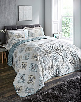 Indra Duck Egg Quilted Throwover