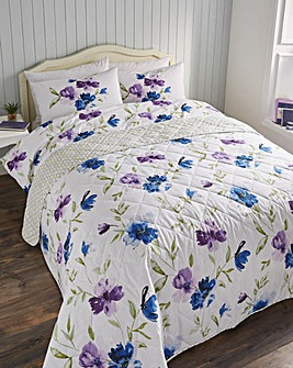 Celestine Blue Quilted Throwover