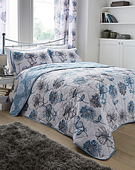 Banbury Pale Blue Floral Throwover