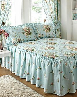 Vantona Madeleine Duck Egg Bedspread