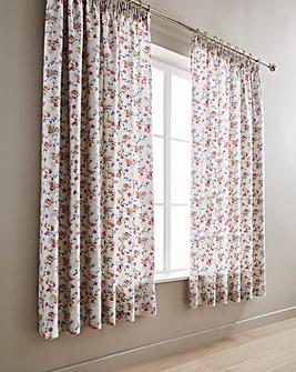 V&A Honeysuckle Trail Pleated Curtains