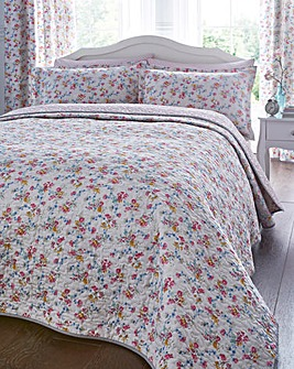 V&A Honeysuckle Trail Quilted Bedspread