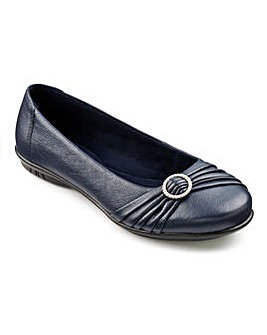 Hotter Papillon Leather Ballerina Shoes