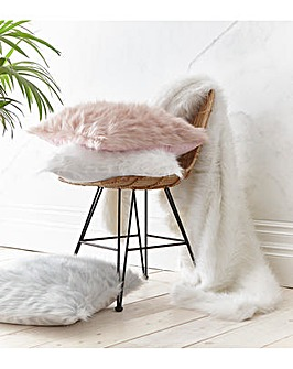 CL Metallic Fur Cushion