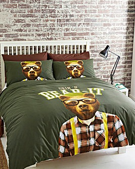 #Grin N Bear It Duvet Cover Set