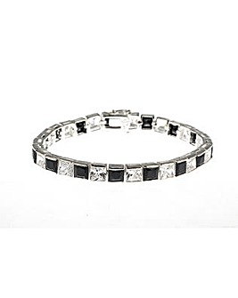 Silver White and Black Set Bracelet
