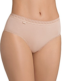 Sloggi Evernew Lace Midi Briefs Beige
