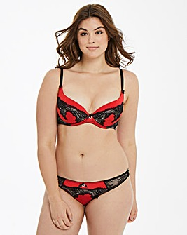 Ann Summers Hollie Red/Black Plunge Bra