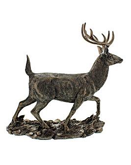 Bronze Finish Stag Figurine