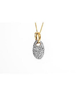 9ct Yellow Gold Diamond Pendant