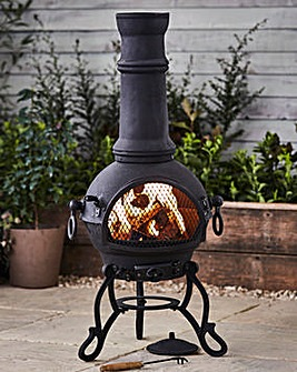 Toledo Cast Iron Chimenea with BBQ Grill