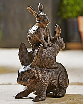 Cast Iron Stacking Rabbits
