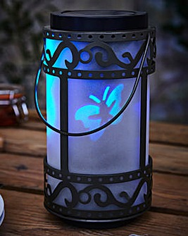 Solar Lantern with Holographic Butterfly