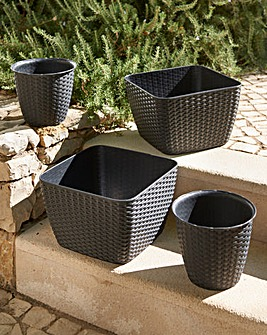 Rattan Effect Planters