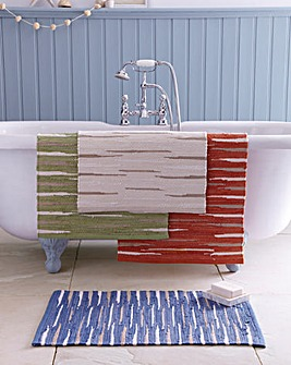 Reversible Rag Bathmat Pack 2