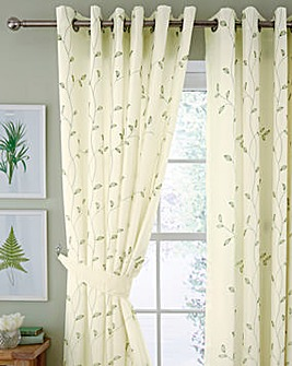 Willow Embroidered Lined Voiles