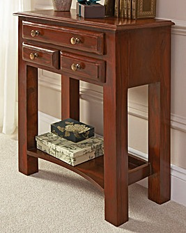 Sheesham Storage Console Table