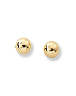9 Carat Gold Small Ball Stud Earrings