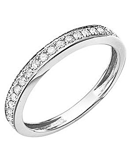 9ct Gold Diamond Half-Eternity Ring