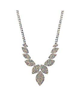 Mood Diamante Leaf Necklace