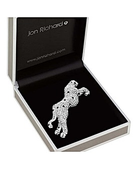 Jon Richard Crystal Jaguar Brooch