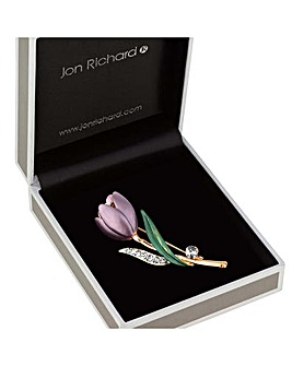 Jon Richard Crystal Tulip Brooch