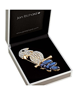 Jon Richard Crystal Parrot Brooch