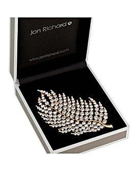 Jon Richard Crystal Feather Brooch