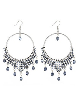 Mood Beaded Drop Hoop Earring