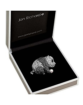 Jon Richard Crystal Panda Brooch