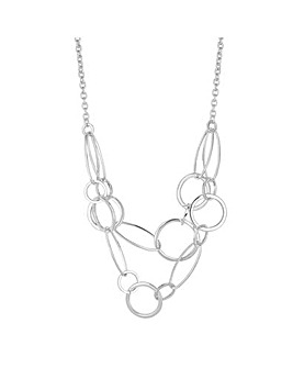 Mood Circle Link Multi Row Necklace