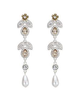 Mood Crystal Floral Drop Earring