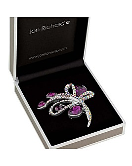 Jon Richard Crystal Loop Brooch