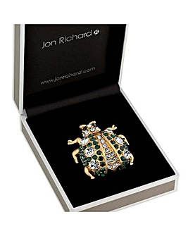 Jon Richard Crystal Bug Brooch