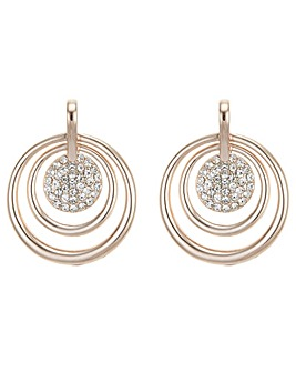 Mood Pave Hoop Drop Earring