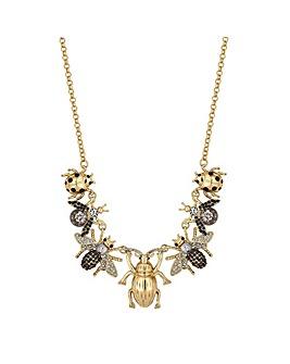 Mood Crystal Bee Charm Necklace
