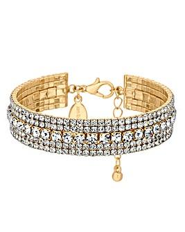Jon Richard Diamante Crystal Cuff Bangle