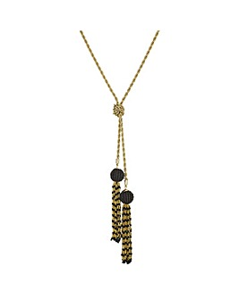 Mood Beaded Tassel Lariat Necklace