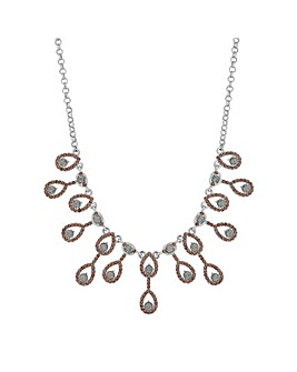 Mood Pave Peardrop Necklace