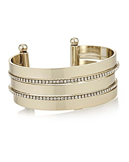 Mood Double Crystal Row Bangle