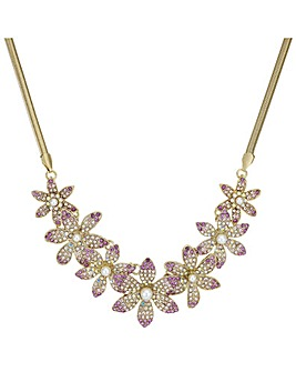 Mood Crystal Floral Necklace