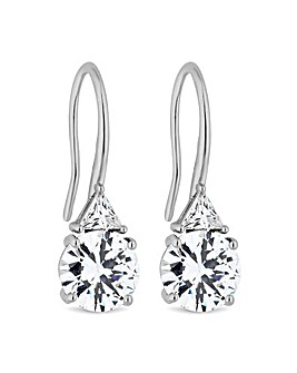 Jon Richard Cubic Zirconia Drop Earring