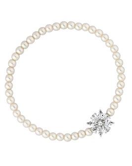 Jon Richard Flower Pearl Bracelet
