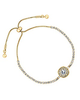 Jon Richard Crystal Halo Toggle Bracelet