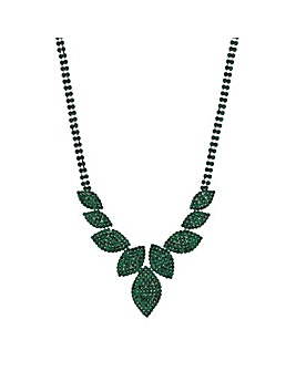 Mood Diamante Leaf Necklace
