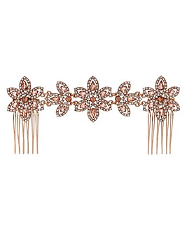 Jon Richard Floral Double Hair Comb