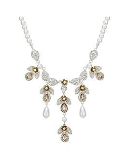 Mood Crystal Floral Droplet Necklace