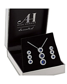 Alan Hannah Halo Drop Jewellery Set