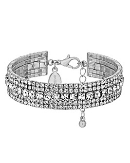 Jon Richard Diamante Crystal Cuff Bangle