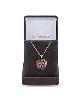Jon Richard Pave Heart Necklace